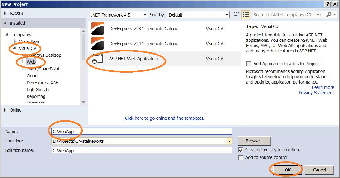 Create a Empty MVC Application