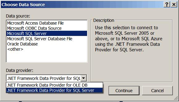 Choose Data Source