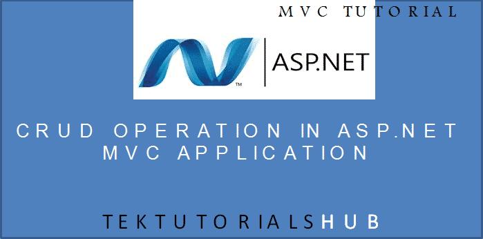 CRUD Operation in ASP.NET MVC Application