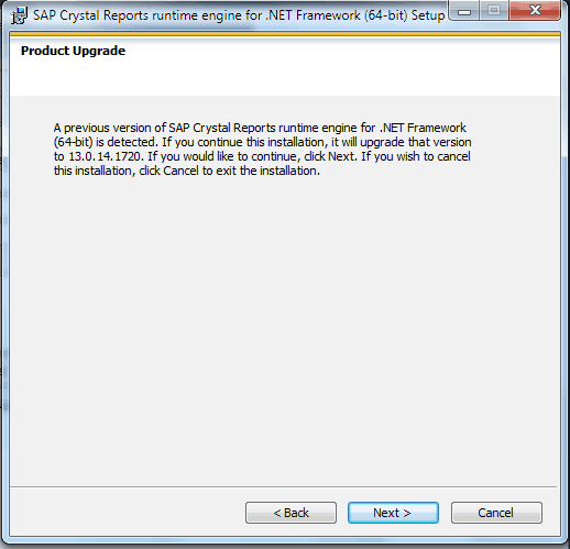 Previous Installation Warning Message